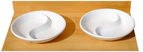 White Yin Yang Dishes 10cm x2
